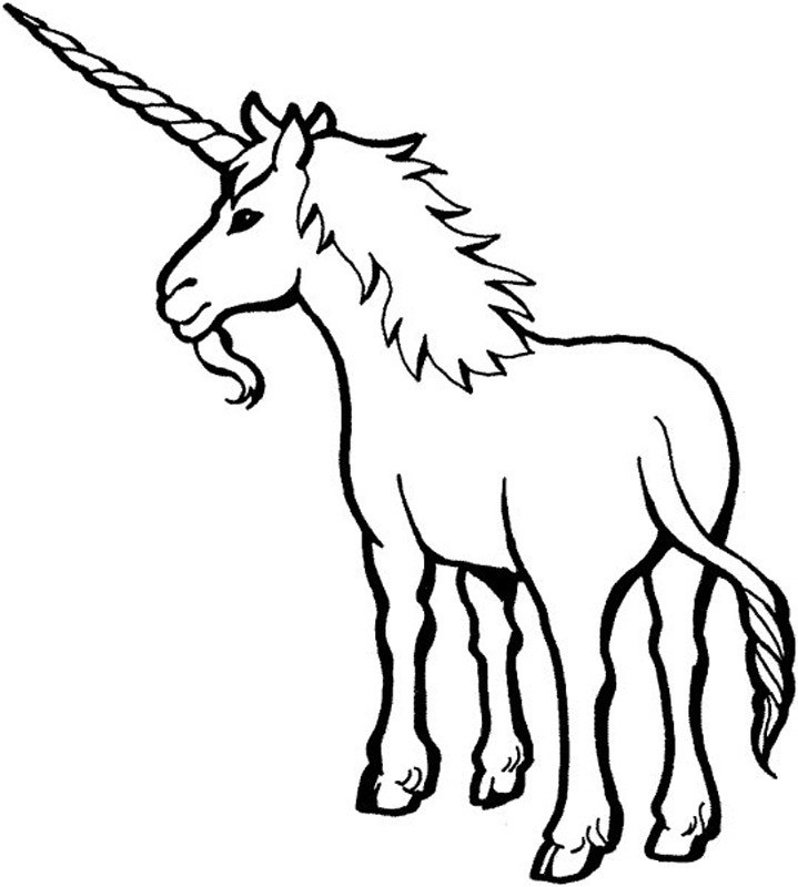 719x800 Free Printable Unicorn Coloring Pages For Kids