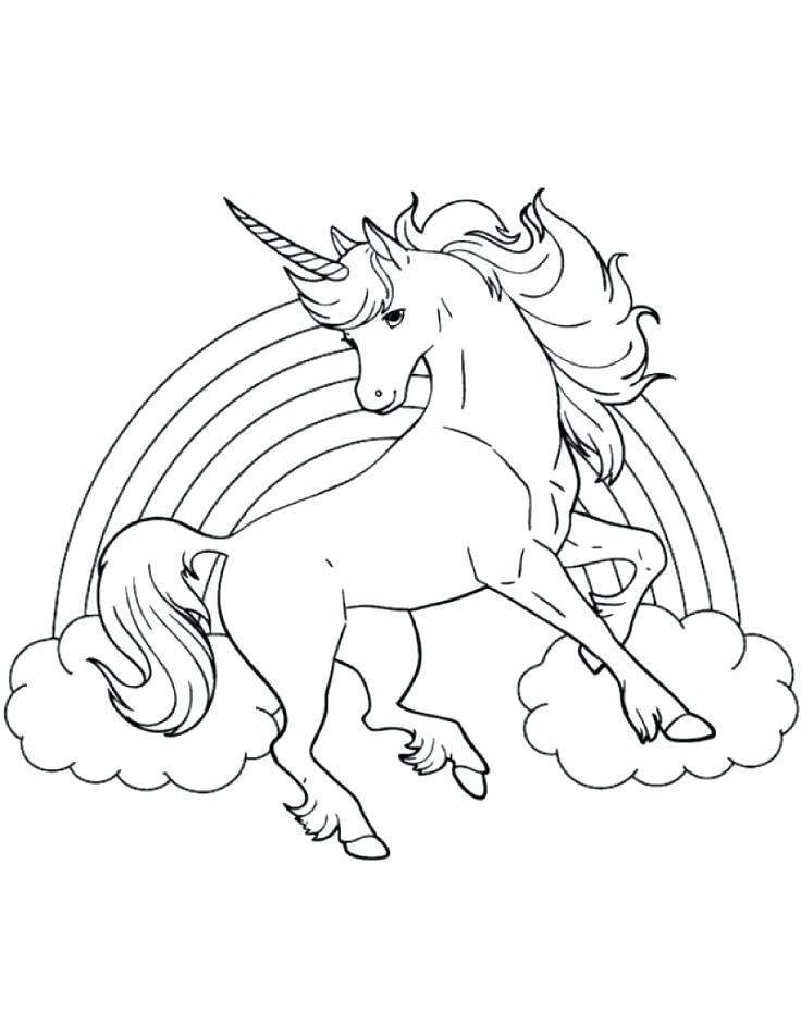 736x942 Unicorn Color Pages Best Printable Coloring Sheet Of Unicorn