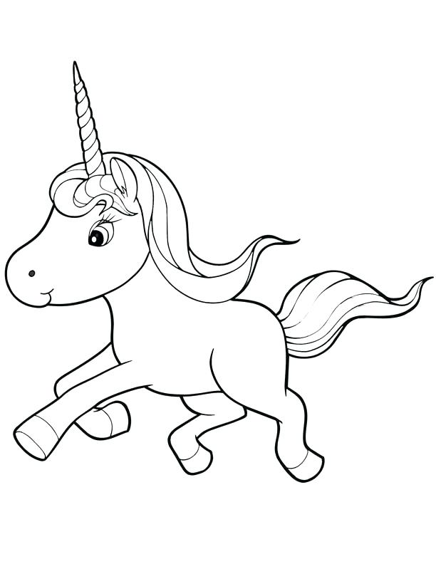 612x792 Unicorn Coloring Book And 25