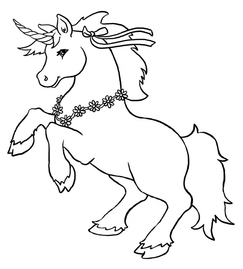 923x1024 Unicorn Coloring Pages