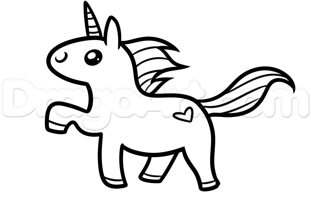 1013x677 How To Draw A Kawaii Unicorn Step 5 Pinterest