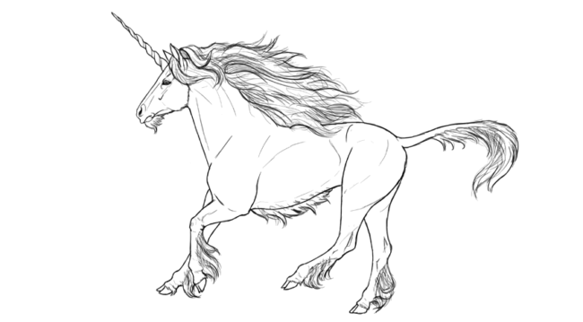 650x359 Unicorn Drawing Nice Coloring Pages For Kids