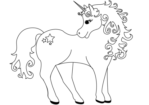 480x339 Lovely Unicorn Coloring Page Free Printable Coloring Pages