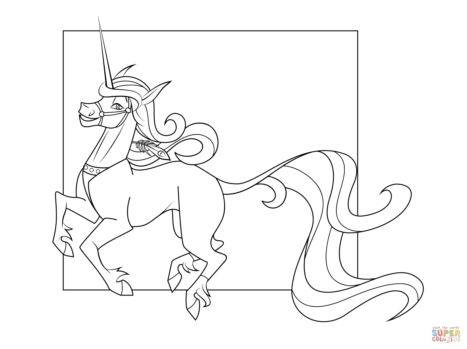 1575x1175 Cute Unicorn Coloring Page Free Printable Pages