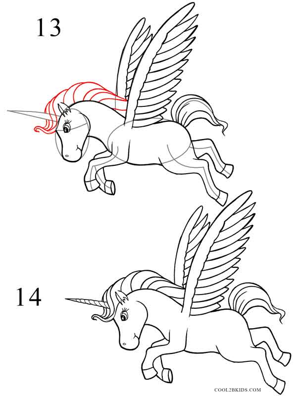 600x800 How To Draw A Unicorn Cool2bkids