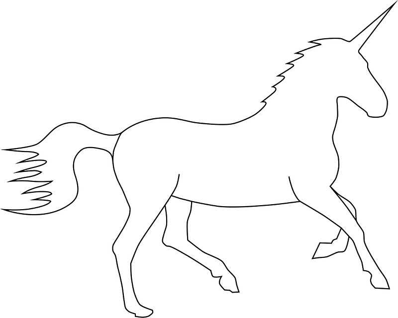 800x640 Unicorn Outline Stickers By Lucid Reality Redbubble