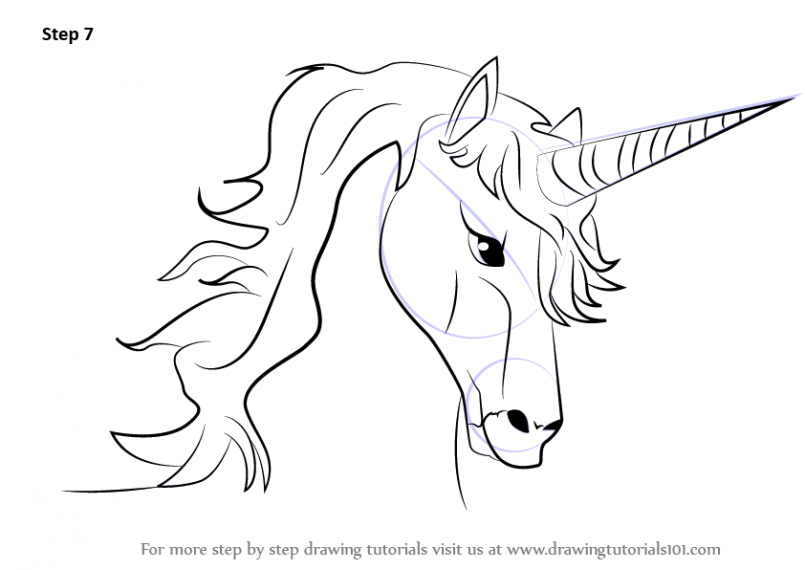 805x570 Drawing How Draw A Unicorn Step By Step Video Also How