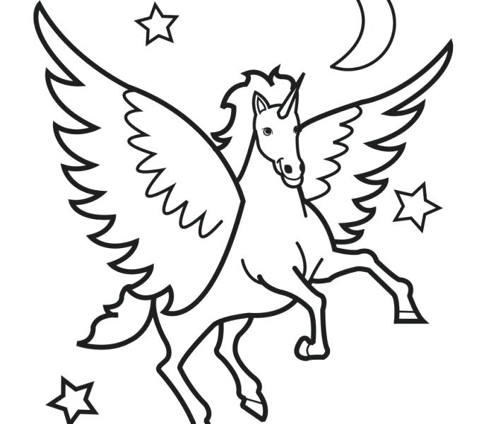 Unicorn Drawing Pages At Getdrawings Com Free For Personal Use