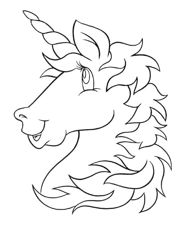 600x759 Minimalist Unicorn Coloring Page Image