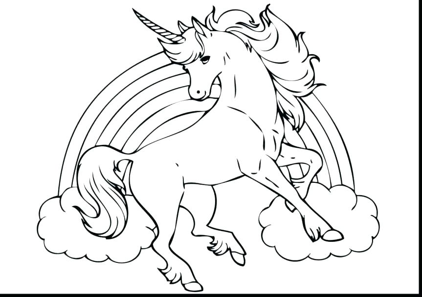863x609 Unicorn Color Pages Drawn Coloring Book 1 Free Printable