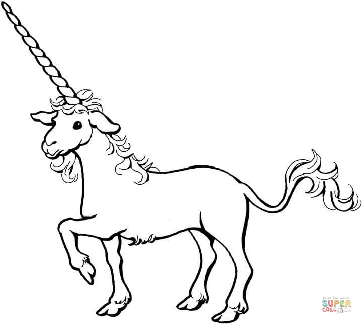720x645 Unicorn Coloring Pages Free