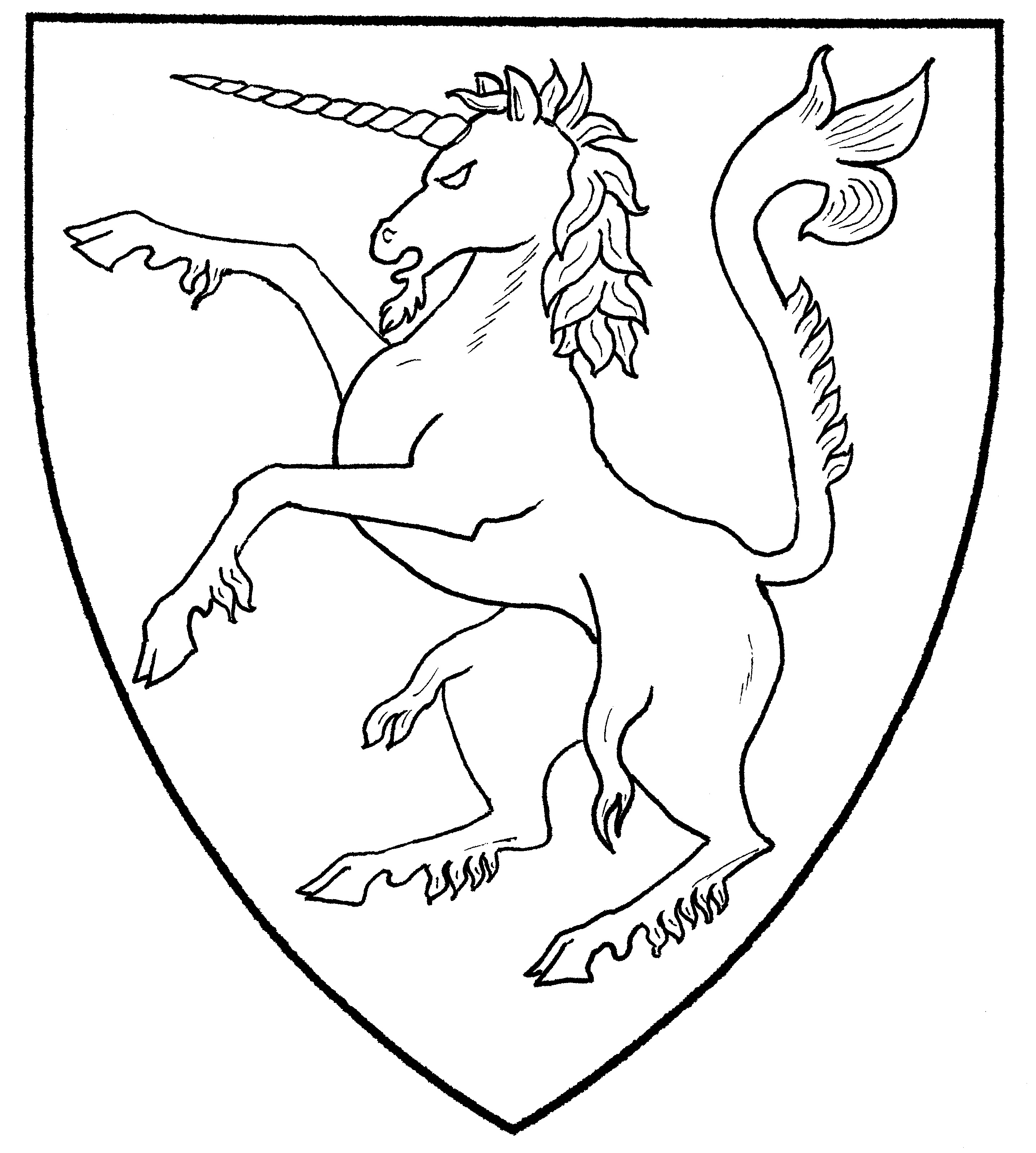 2877x3202 Great Unicorn Line Drawing Top Design Ideas