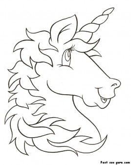268x338 Print Out Unicorn Head Coloring Pages For Kids