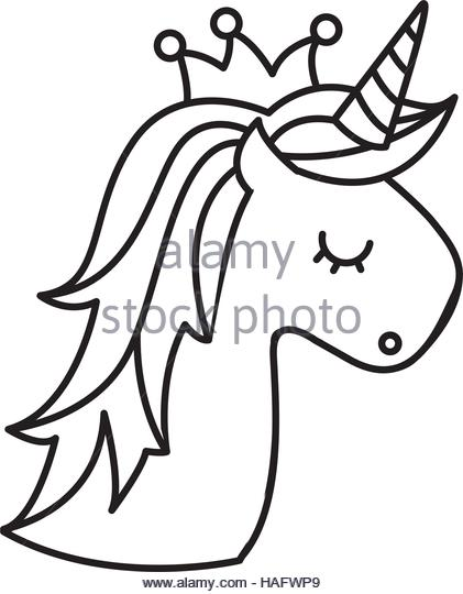 421x540 Unicorn Head Clipart Black And White