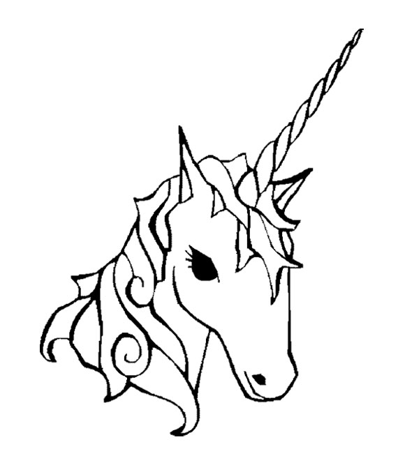 580x667 Face Unicorn Coloring Page For Kids Kids Coloring Pages