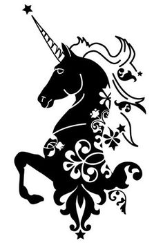 236x355 Free Unicorn Silhouettes Unicorns, Silhouettes And Free