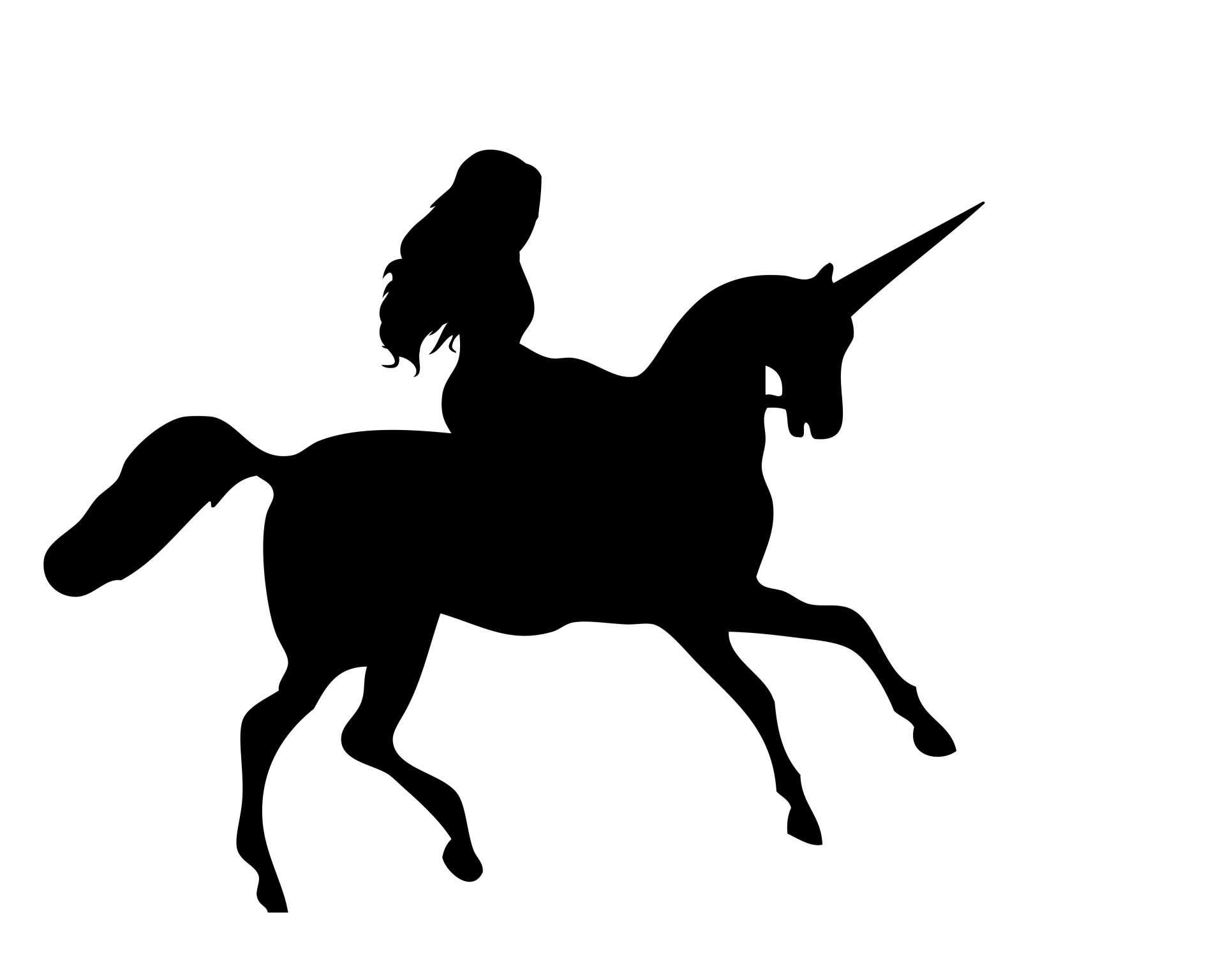 1920x1536 Girl With Unicorn Silhouette Clipart Clipartfest 2