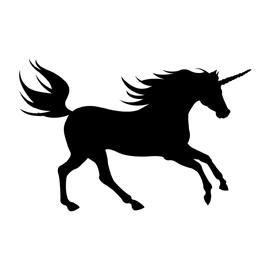 270x270 Unicorn Silhouette 01 Stencil Free Stencil Gallery