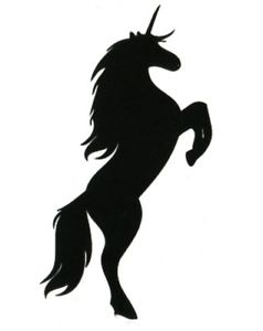 238x300 Unicorn Silhouette Tattoo Kawaii Harajuku Waterproof Body Art