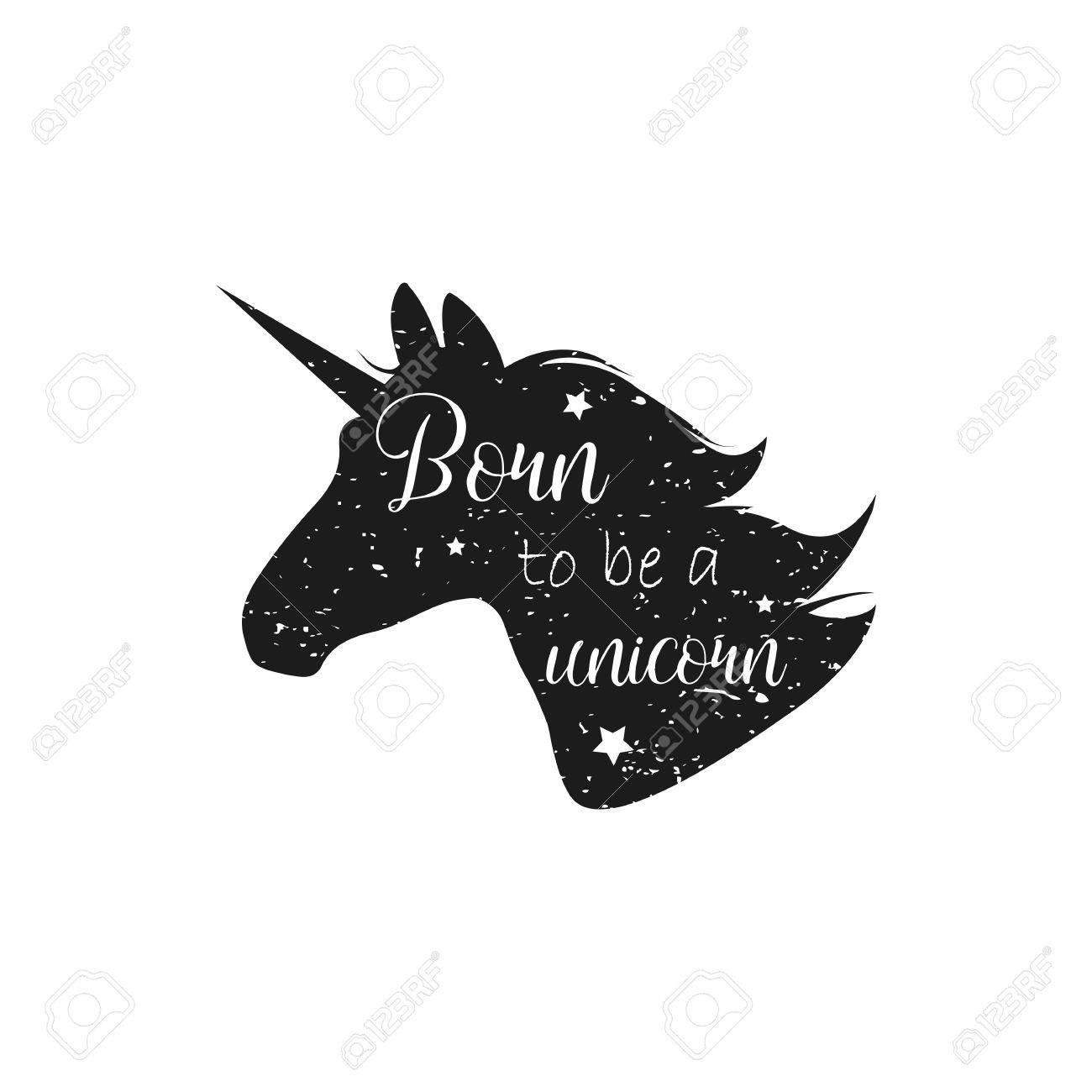 1300x1300 Born To Be A Unicorn. Vector Illustration. Abstract Unicorn