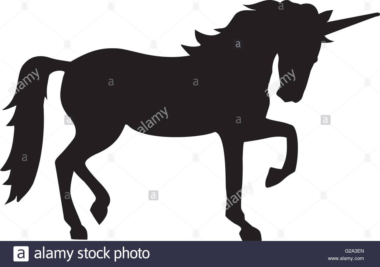 1300x913 Unicorn silhouette Stock Vector Art amp Illustration, Vector Image