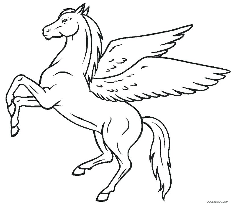 Unicorn Simple Drawing at GetDrawings | Free download