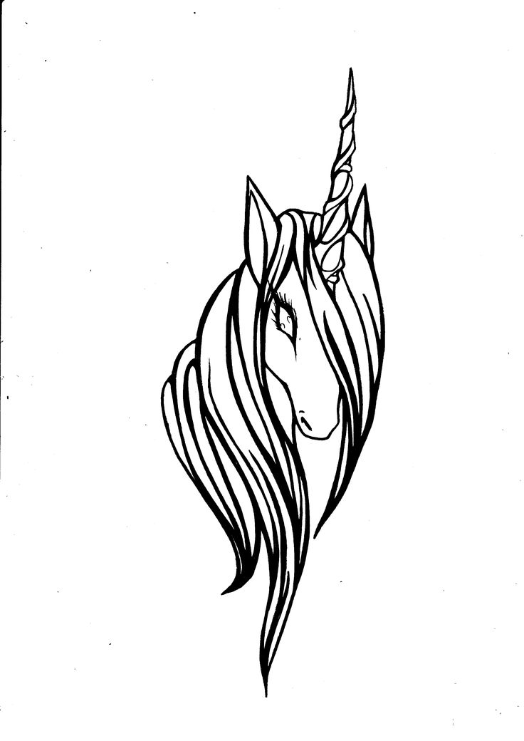 Unicorn simple drawing at free for for Simple unicorn tattoo