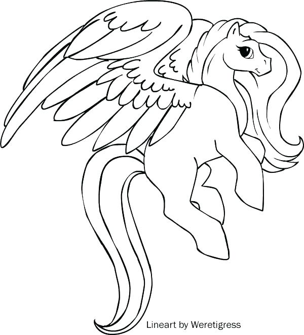 Unicorn With Wings Drawing at GetDrawings.com | Free for personal ...