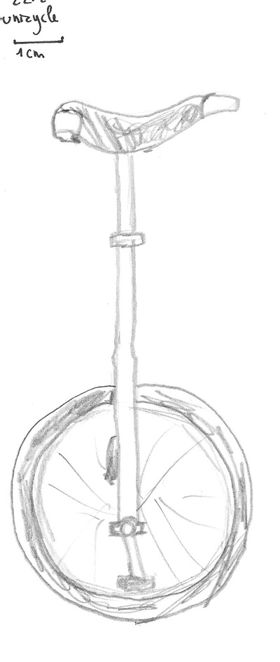400x945 Five Minute Sketch 12 Unicycle A Stream Of Milk