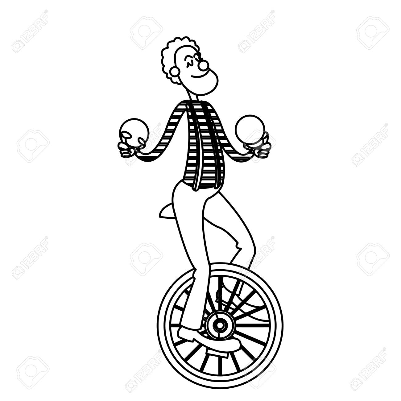 Unicycle Drawing At Getdrawings Com Free For Personal
