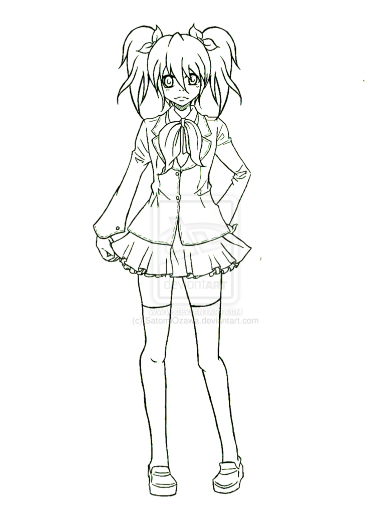 781x1022 Anime School Uniform Drawing Anime Anime, Drawing