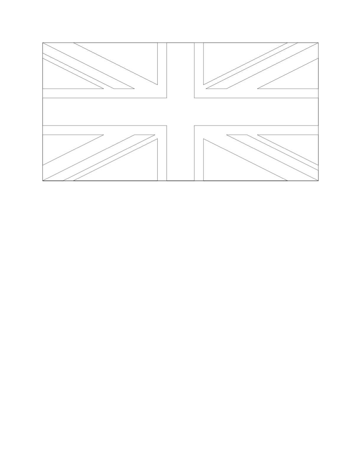 Union Jack Drawing