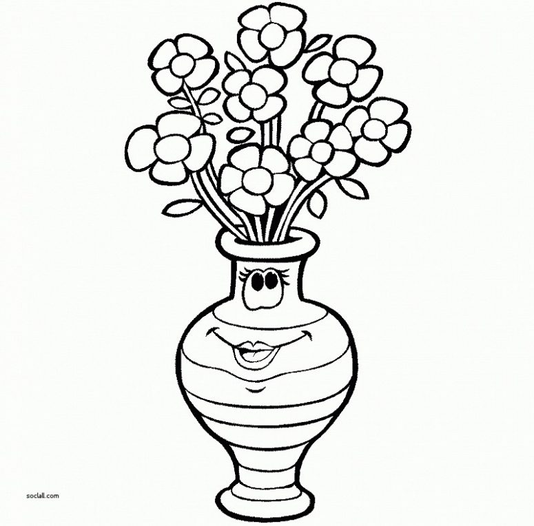 775x764 Inspirational How To Draw Flowers In A Vase