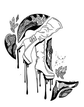 354x450 30 Most Beautiful Amp Unique High Heel Drawing Illustrations You