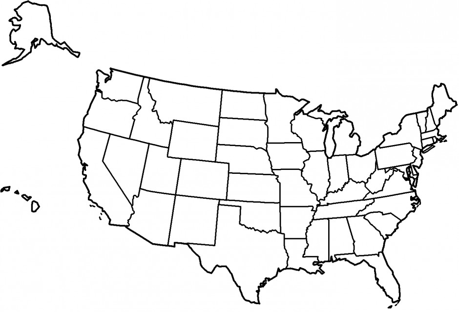 940x639 Ultimate Coloring Pages Of The United States Page Map Many