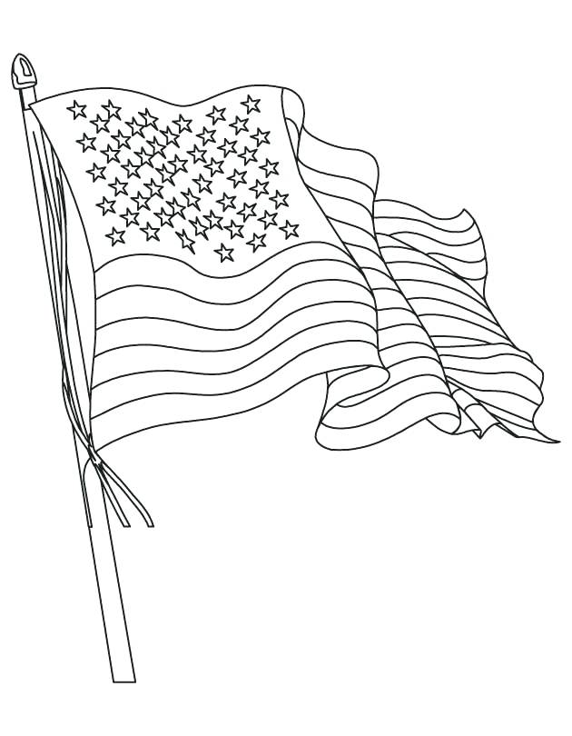 630x810 United States Of America Flag Coloring Page Botcompass.co