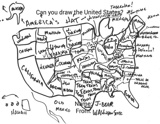 640x494 Can You Draw All 50 Us States