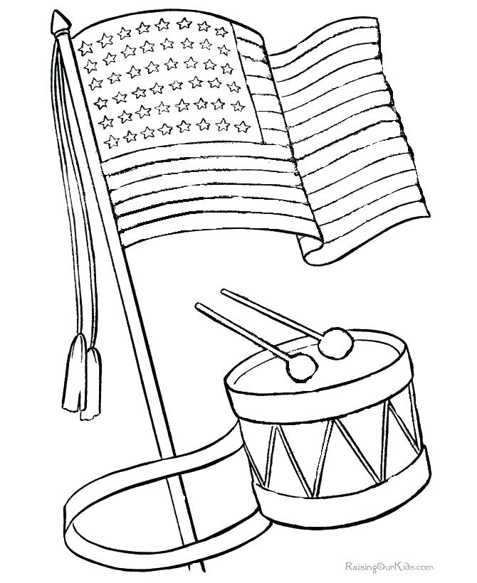 670x820 United States Of America Flag Coloring Page United States American
