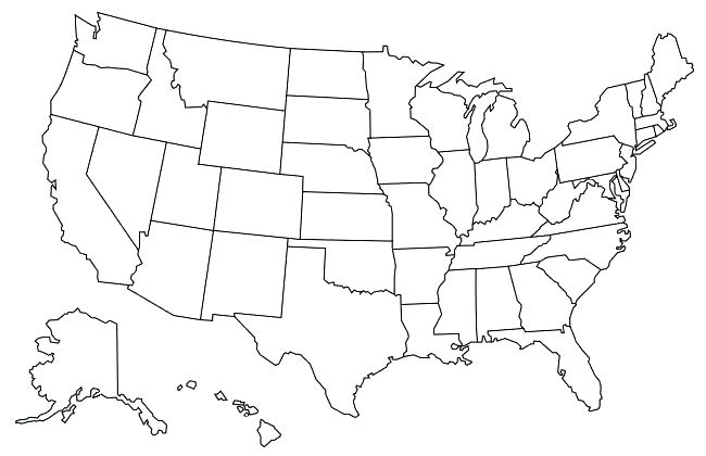 650x420 Map Of United States Coloring Page United States Coloring Page