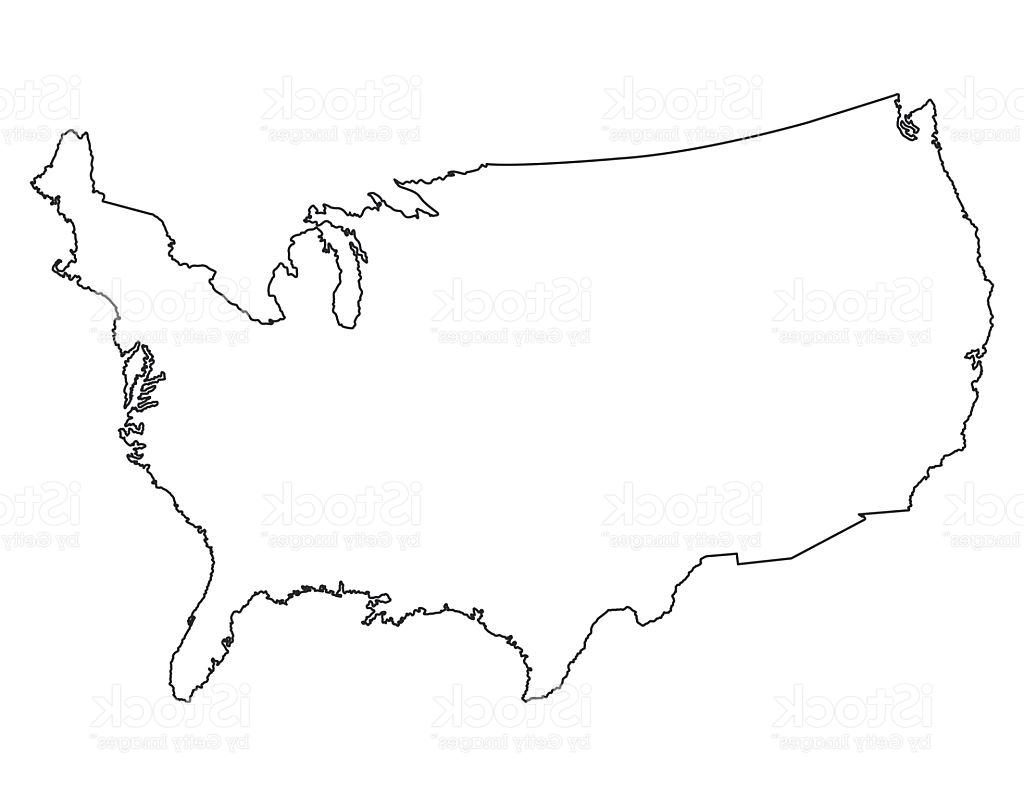 1024x796 Best Free United States Map High Detailed Border Vector Drawing
