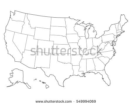 450x358 Sketch Drawing Us Map Online 9 Photos Of Outline Drawing Of United