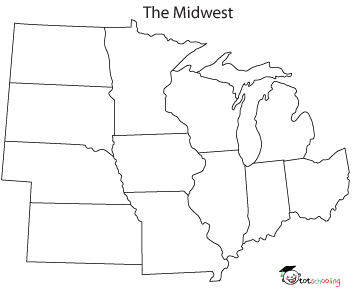 360x289 blank map midwest states