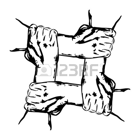 450x450 Hands Holding Each Other In Unity Royalty Free Cliparts, Vectors