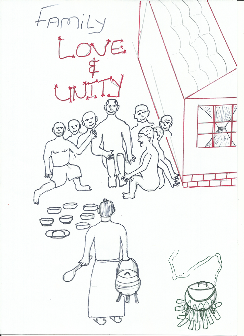 850x1171 Drawing Depicting The Strength Of Family Unity.