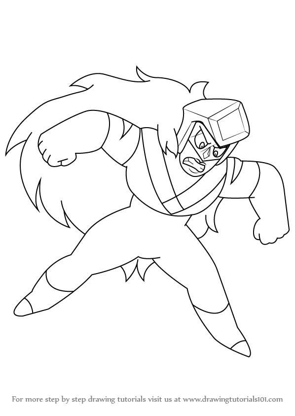598x844 Learn How To Draw Jasper From Steven Universe (Steven Universe