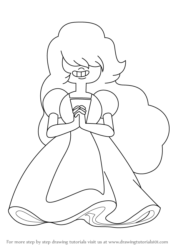 598x845 Learn How To Draw Sapphire From Steven Universe (Steven Universe
