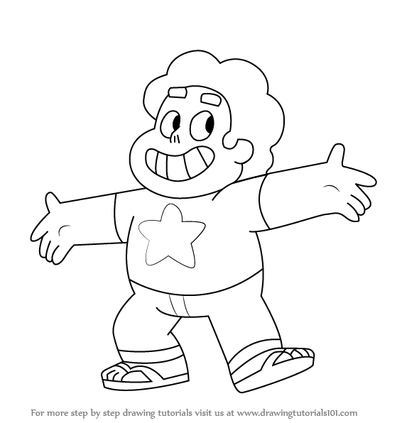 559x596 Learn How To Draw Steven From Steven Universe (Steven Universe