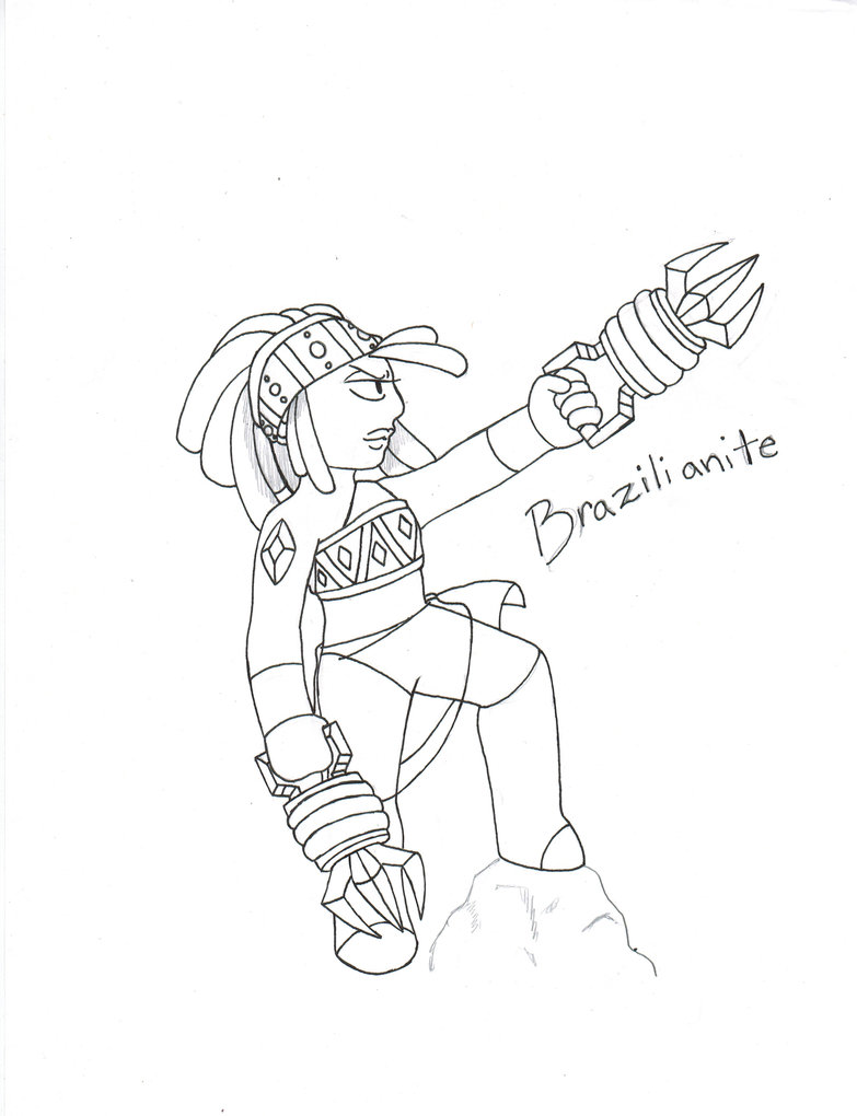 783x1020 Steven Universe Oc Brazilianite Drawing By Proxamina