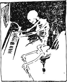 Upright Piano Drawing