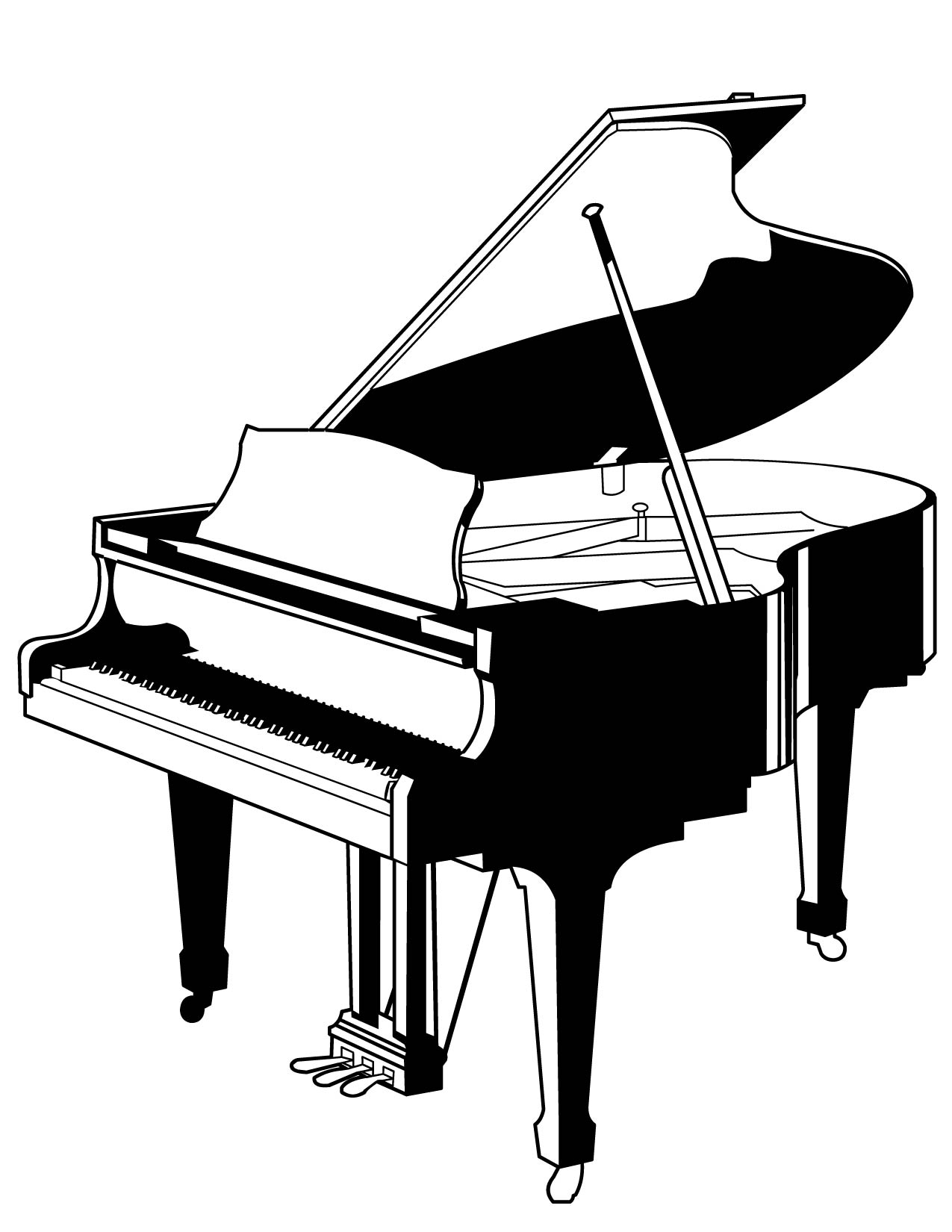 1275x1650 Free Printable Piano Coloring Pages Drum Coloring Pages Printable